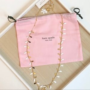 Kate Spade botanical garden long necklace - new